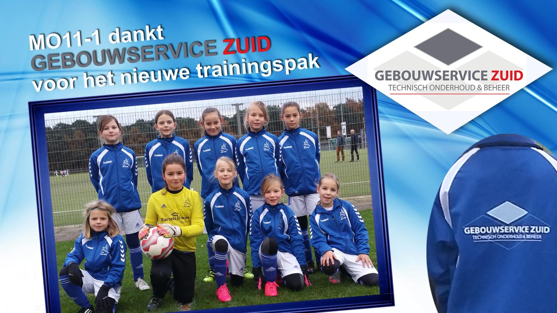 Marvilde meisjes MO11-1 trainingspakken van GebouwService Zuid