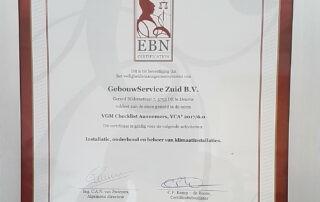 VCA certificaat GebouwService Zuid